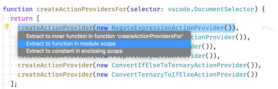 VS Code shows a popup to either
