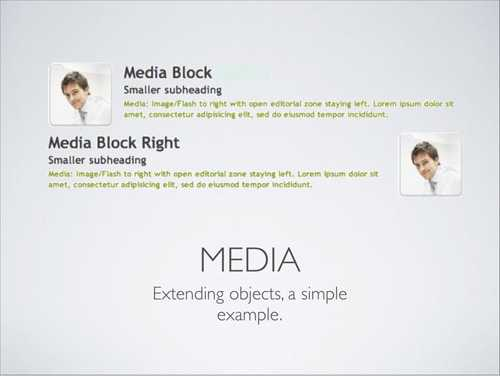 Media Object, an example of objects extension