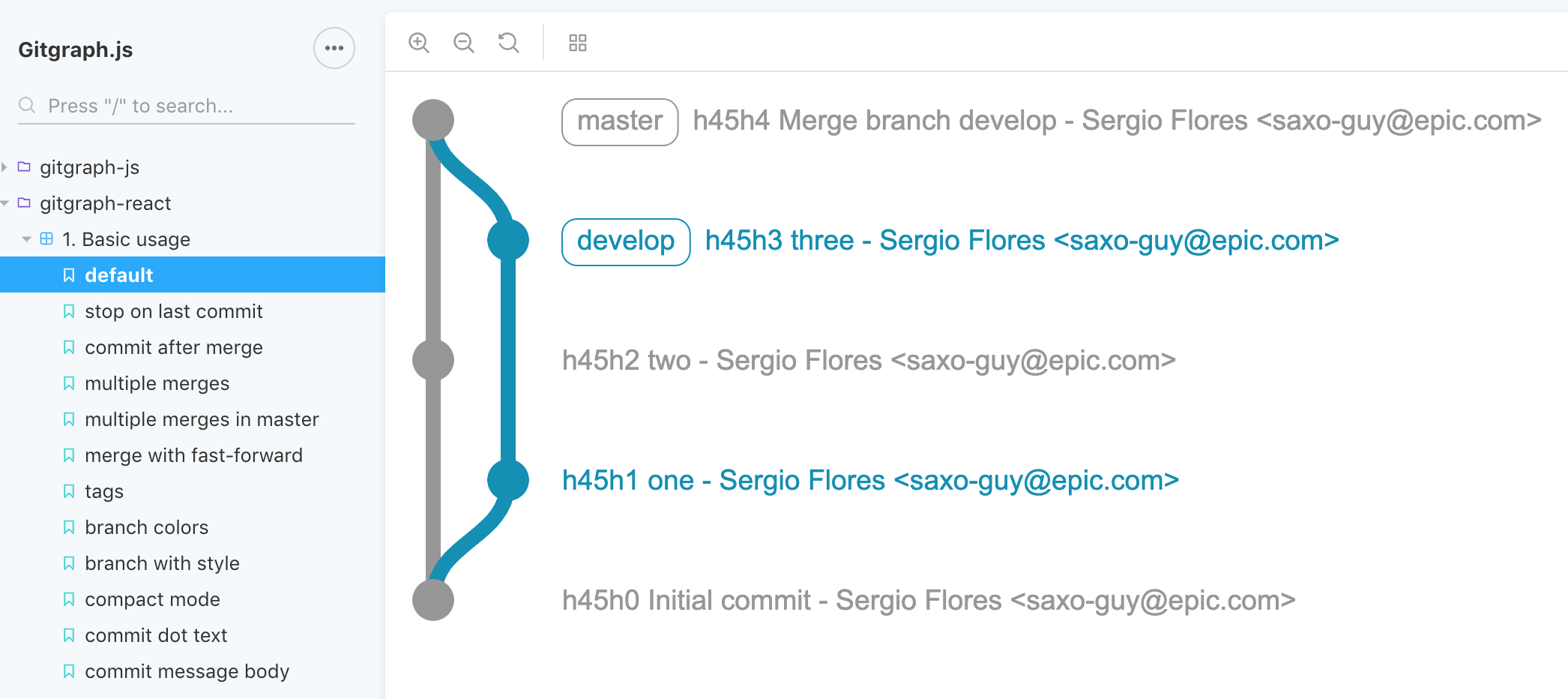 Drawing Git Graphs in the Browser